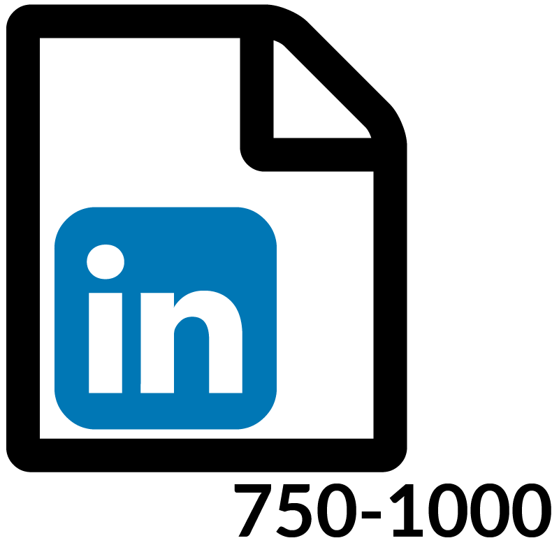 1 LinkedIn 750 1000 Word Post Month